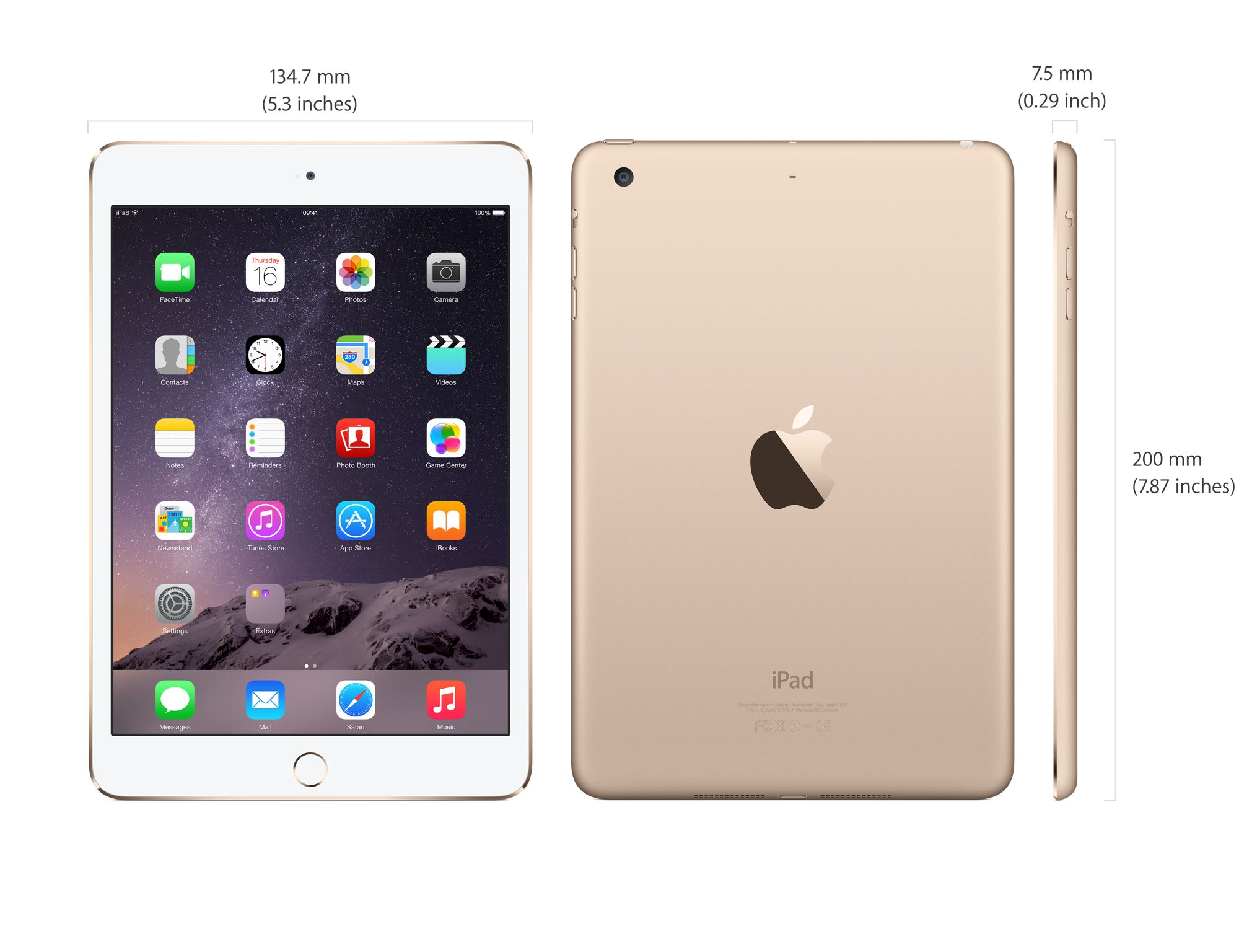 iPad Mini 3 16GB Wifi + 4G Gold like new mới 99%_003
