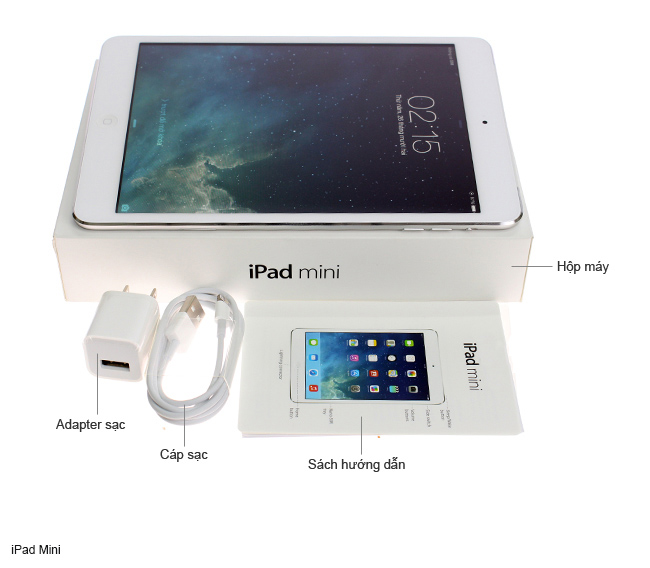 iPad Mini 32GB Wifi + 4G (Trắng) like new mới 99%_000